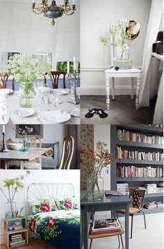 Dining room, bed room, study, hall display. Blues and oversized jar vases. Z potrzeby piękna....