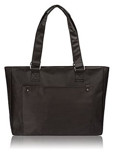 Nylon Laptop / MacBook Tote Bag, Black - Women's Shoulder...