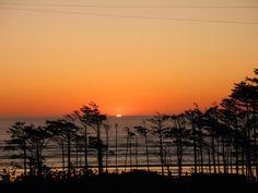 Washington coast sunset seabrook pacific ocean beach new urbanism