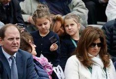 Wimbledon 2014 Roger Federer Mirka Girl Twins