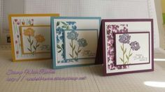 Try with Butterfly Basics Flower and Painted Blooms DSP. A gift card set I made using new products.
