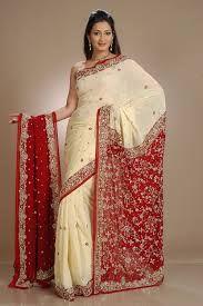 cream bridal saree - Google Search