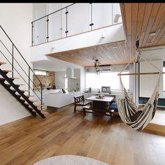 Kitchen / White / New construction / Home / Panasonic / Custom-made housing etc . Interior Room Decoration, Room Interior, Interior Decorating, Home Decor, Warehouse Living, Interior Styling, Interior Design, Simple House Design, Loft Room