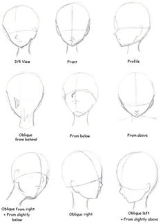 so helpful! how to draw faces from different angles Manga_Tutorial__Head_Direction_by_MermaidUnderSea.jpg (1152×1590) by Charlie.