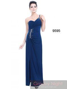 SEXYデザインにキラキララインストーンが映えるロングドレス♪ - ロングドレス・パーティードレスはGN|演奏会や結婚式に大活躍!