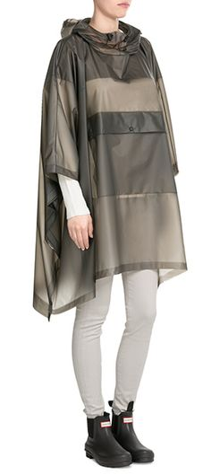 A water and weatherproof staple that will take you from spring showers to summer's festival season, this transparent jacket from Hunter is tinted with a deep shade of grey. Seam detailing at the front is a nod to the iconic wellington boot design that the brand is fames for #Stylebop