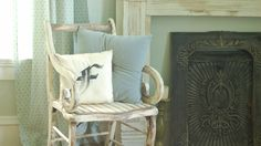 Scroll Arm Chair Makeover