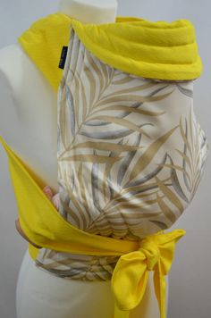 MEI TAI BABY CARRIER /SLING/REVERSIBLE/PALMERA WITH YELLOW/MADE IN UK/100%COTTON