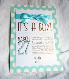 It's A Boy - Baby Shower Invitations @Renee Peterson Peterson Bujol  - if the baby turns out to be a boy!!!