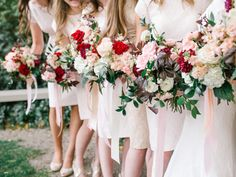 blush and burgundy bouquet inspiration valentines wedding inspiration utah www.calierose.com