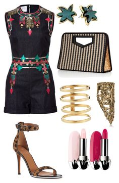 """""""Warm weather wardrobe"""" by tonimaria ❤ liked on Polyvore featuring Valentino, Lana, Marc by Marc Jacobs, Givenchy, Pamela Love, valentino, marcjacobs, romper and pamelalove"""