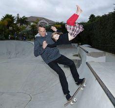 Tony Hawk creates stir with photo of him skating with young daughter | Yardbarker.com