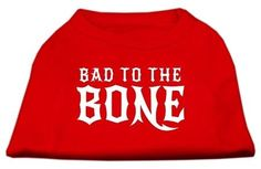 Bad to the Bone Dog Shirt Red XXL (18)