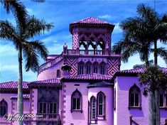 Purple House OK dating myself here BUT this reminds me of the album cover for the EAGLES - HOTEL CALIFORNIA! ;0)