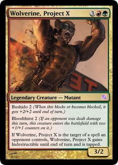 X-Men Magic Set - A collection of custom cards depicting X-Men and several other marvel mutant characters (and a guest) as Magic: The Gathering cards. Created by ZGiSH