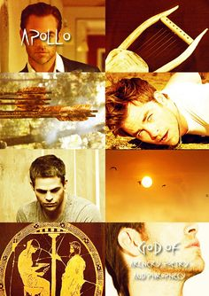 GREEK MYTHOLOGYMEME:2/?  ∟Chris Pine asA P O L L O The son of Zeus and the Titaness Leto, and the twin brother of the goddess Artemis, the virgin huntress. Apollo is one of the most important deities of both Greek and Roman religions, and was the god of prophecy, archery, and music.