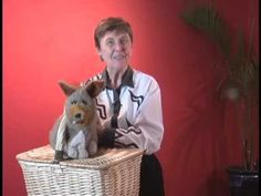 """Storyteller Glenda Bonin demonstrates with """"Clyde, a favorite puppet pal, the """"lap puppet technique,"""" the method used by puppeteers who entertain with a pupp..."""