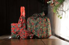 The Wrag Wrap range. Reusuable fabric gift wrap that Includes Crackle Wrap, Stretch Wrap, Gift Bag and Bottle Bag