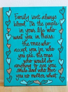 Family isn't about blood