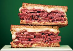 Grilled Corned Beef with Fontina