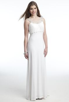 Jersey Empire Prom Dress with Illusion Beaded Back from Camille La Vie and Group USA