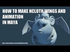 HOW TO MAKE NCLOTH WINGS AND ANIMATION IN MAYA(마야에서 새의 날개 리깅하고 애니메이션 하기)