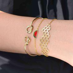 Passion Pastèque Gold Bracelet