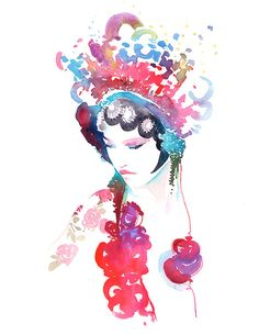 Archival Prints of Fashion Ink and Watercolor by silverridgestudio