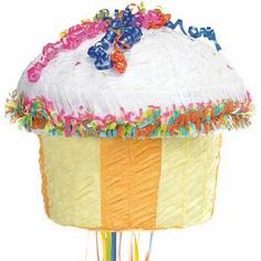 Looks so sweet you'll want to eat! Our Cupcake pull-string style pinata, dripping with colorful icing , makes a sweet decoration for any birthday party. Birthday Pinata, Pinata Party, Birthday Cupcakes, Birthday Parties, Birthday Ideas, Birthday Board, Birthday Fun, Cupcake Crafts, Cupcake Party