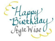 Style Wise is one year old :)