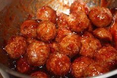 crock put sriracha meatballs (appetizer)