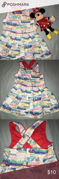 Genuine Kids from Osh Kosh Zip Up Back Dress 12M Toddler girls Genuine Kids from Osh Kosh super adorable dress. Zips up and has cross cross back. Size 12 Months. OshKosh B'gosh Dresses Casual
