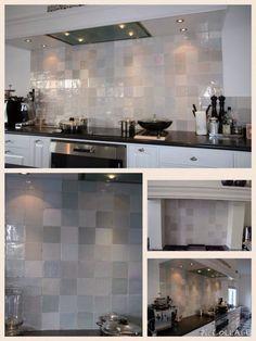 Kitchen tiles. Love the colours.... Oude witjes 13x13 wandtegels keuken