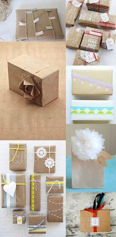 Ideas para envolver Envoltorios originales para estas navidades