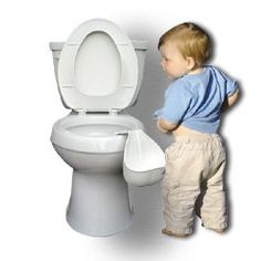 WeeMan Urinal for potty training. Can you imagine what a mess this would be?!