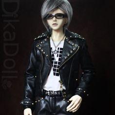 (Y98-485) studded leather biker motorcycle jacket pants set