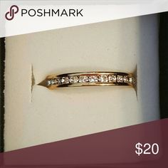 Gold ring 14kgf ring...size 6-9 Jewelry Rings