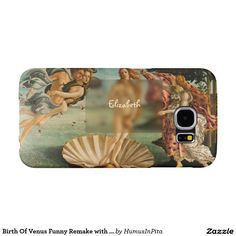 Birth Of Venus Funny Remake with Glass Phone Case Samsung Galaxy S6 Cases