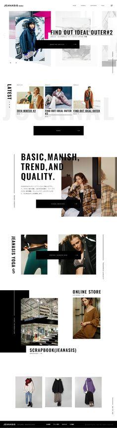JEANASIS MEDIA | SANKOU! | Webデザインの参考サイト集 Website Design Layout, Web Layout, Layout Design, Site Inspiration, Site Vitrine, Leaflet Design, Grid Layouts, Email Design, Wordpress