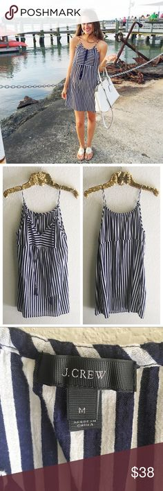 J. Crew Gauze Tassel Dress Perfect to wear as a dress for the summer or as a swimsuit cover up! As seen on fashion blogger, cmcoving  Excellent condition. No flaws! J. Crew Dresses Mini