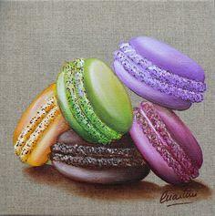 Tableau 5 macarons gourmands  www.martini.free.fr