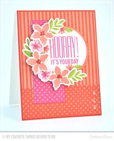 Handmade card from Debbie Olson featuring Modern Blooms #mftstamps