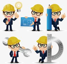 Construction engineer cartoons, Engineer, Building Illustration, Construction Worker PNG and Vector