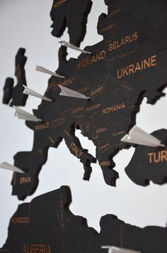 Push Pin Travel World Map Wooden Pin Map of the World Wall Home Art Wanderlust Gift for Travel Lovers Traveler Wife Husband Christmas This is our special edition map which already comes with plane shaped pins! They can help you mark all countries that youve visited! Also this is great