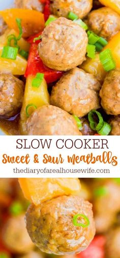 I LOVE this recipe. Simple Slow Cooker Sweet and Sour Meatballs. Entree Recipes, Meat Recipes, Slow Cooker Recipes, Crockpot Recipes, Cooking Recipes, Crock Pot Food, Crockpot Dishes, Sweet And Sour Meatballs, Cook Up A Storm
