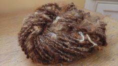 Wildu Shetland Locks, 53 yards of handspun bulky yarn plied with a mohair thread, rugged and soft! by msfledermaus on Etsy