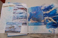 flag of Ocean Simply breathtaking - sea life A Level Art Sketchbook, Textiles Sketchbook, Sketchbook Pages, Sketchbook Ideas, Fashion Sketchbook, A Level Textiles, Art Alevel, Creative Textiles, Textiles Techniques