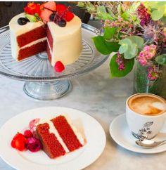 tarta red velvet 1 capa Cupcakes, Red Velvet, Panna Cotta, Pudding, Ethnic Recipes, Desserts, Food, Fondant Cakes, Lolly Cake