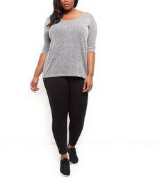 Prezzi e Sconti: #Curves black zip pocket leggings  ad Euro 22.99 in #New look #Womens clothing leggings
