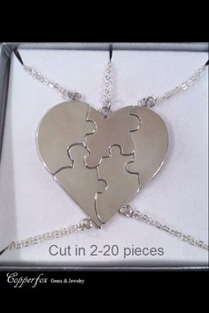 A personal favorite from my Etsy shop https://www.etsy.com/listing/190417666/sterling-silver-bridesmaids-puzzle